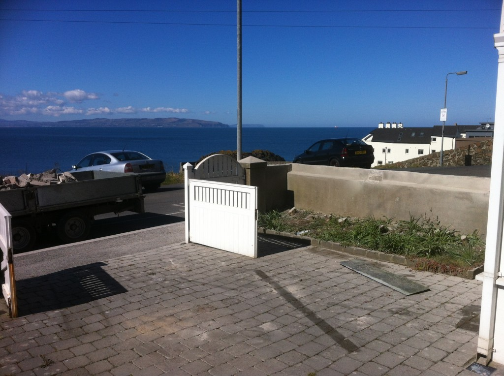 View of Donegal and Atlantic Ocean after removal of wall and hedge